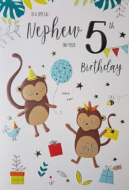 Especial Nephew 5º cumpleaños tarjeta edad Cinco 8702 ...