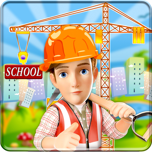 School Building Construction Site: Builder Game city town girl renovate simulator 2019