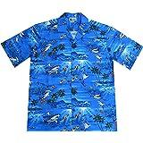 8197a62ca5a Amazon.com  Benny s Mens Sharks Parrothead Hawaiian Shirt  Clothing