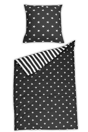 Schiesser Bettwäsche Betten Sets Baumwolle Grau 135 Cm X 200 Cm
