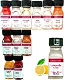LorAnn Oils Gourmet Super Strength Fruit Flavors (No Oils) 1 Dram Variety Bundle #2 (Pack of 12)