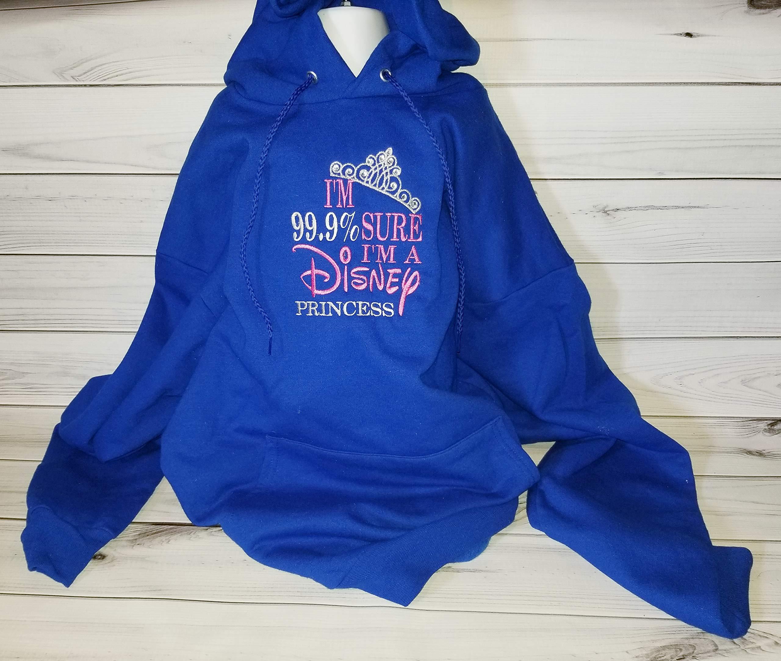 99% Sure I'm a Disney Princess Womens Teens Hoodie Hoody Sweatshirt Pullover Top