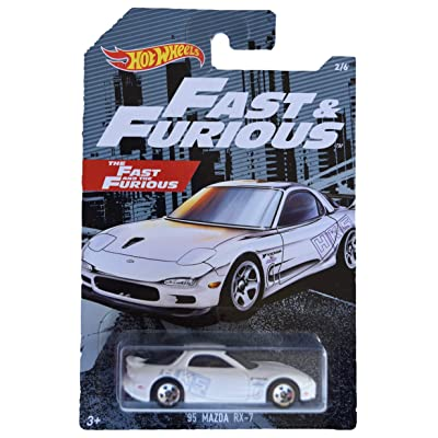 Hot Wheels Fast & Furious '95 Mazda RX 7 2/6, White: Toys & Games