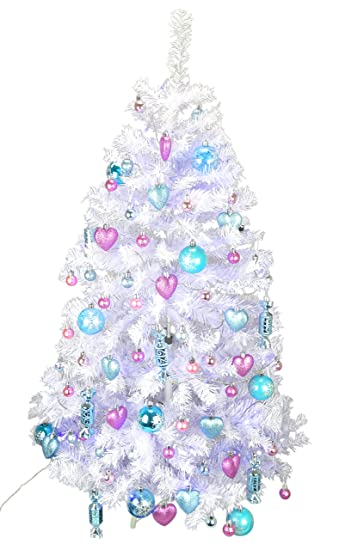 christmas concepts 4ft luxury pre decorated christmas tree ice blue baby pink chic