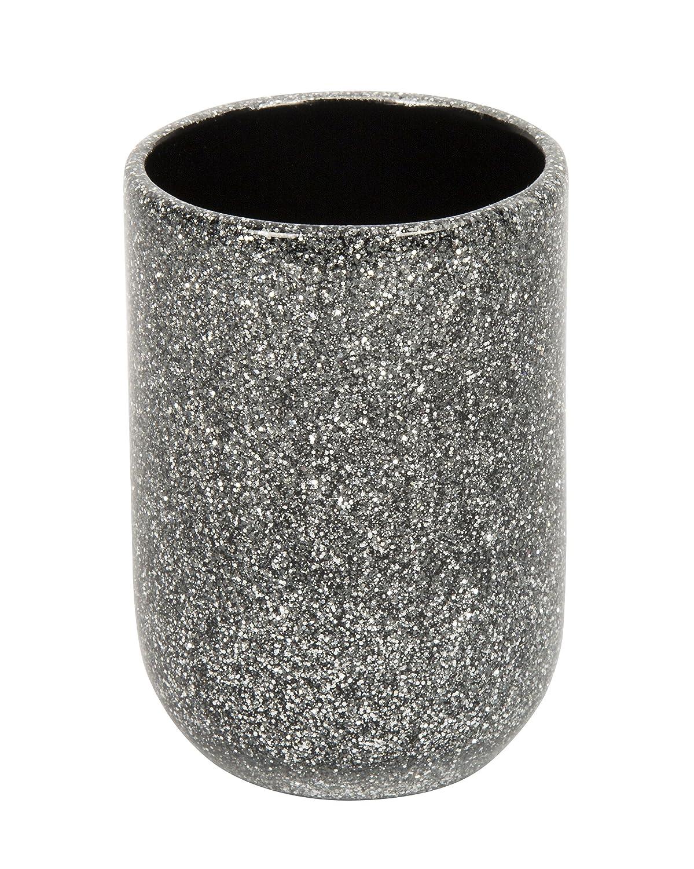 Croydex Silver Glitter Round Free Standing Mirror QM101040