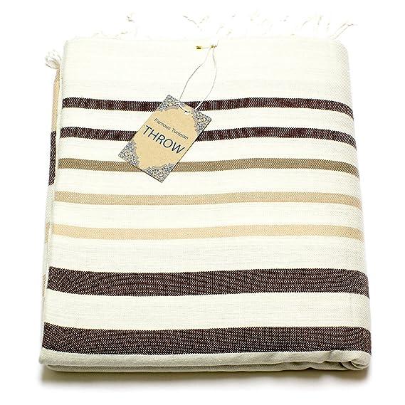 Kamelia Fouta Couch - Colcha para Cama sofá - Colcha para Cama Manta de día - 270 x 230 cm XXL Formato - Premium algodón - Sofá de Techo o Mesa de ...
