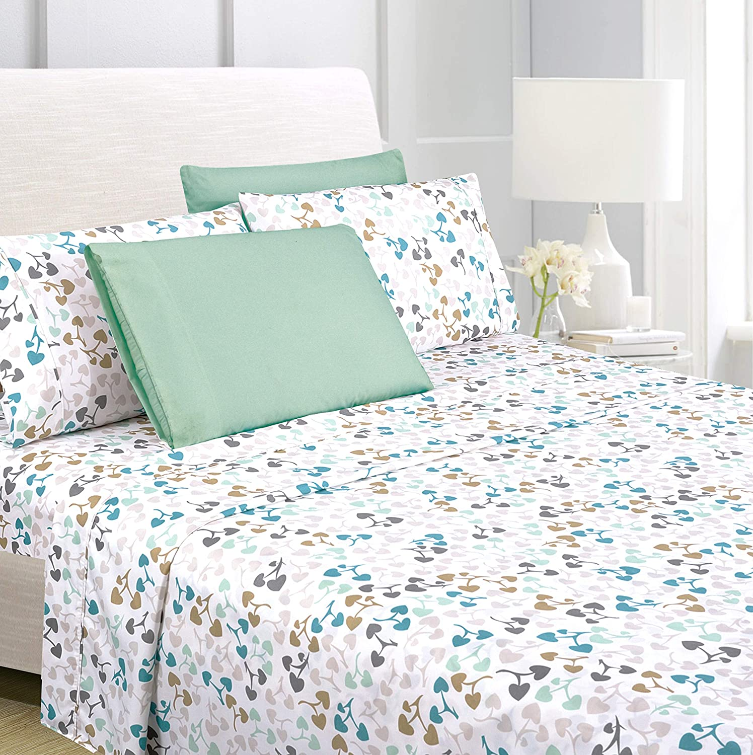 American Home Collection 6 Piece Bed Sheet Set Super Soft Brushed Microfiber - 14