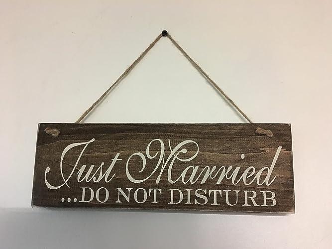 amazon com just married do not disturb wedding sign handmade