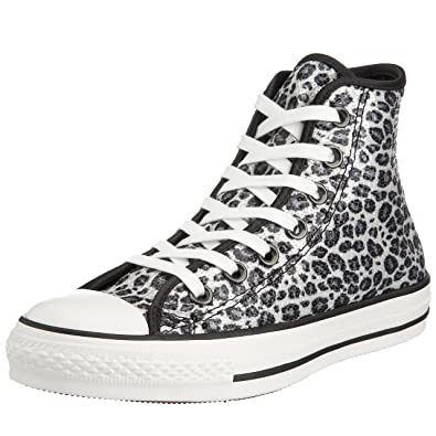 7c8e8bbeed Converse Unisex Chuck Taylor Animal Hi Lace-Up Leopard 112432 12 UK ...
