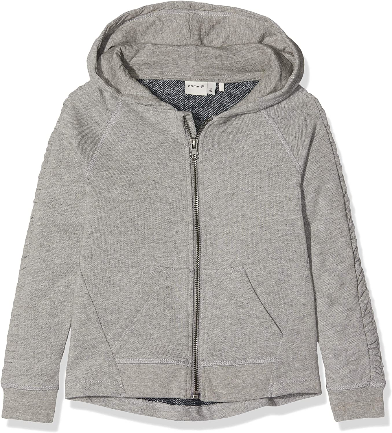NAME IT Nkfdeborah LS Light Sweat Card WH UNB Chaqueta Deportiva para Ni/ñas