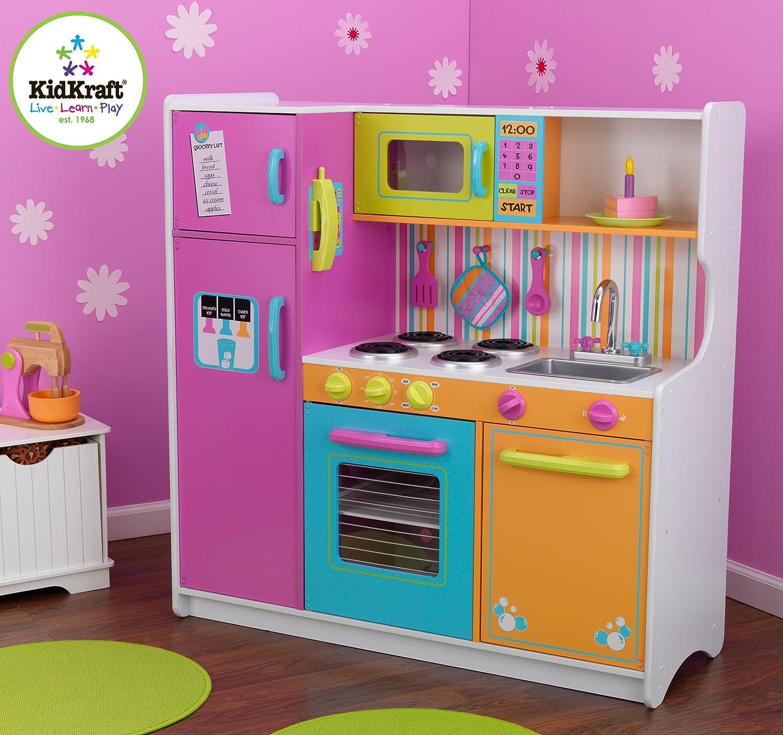 Kids Kitchen Amazoncom Kidkraft Deluxe Big Bright Kitchen Toys Games
