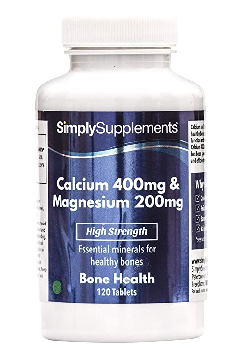Calcio 400 mg y Magnesio 200 mg - 120 comprimidos - 2 meses de suministro -