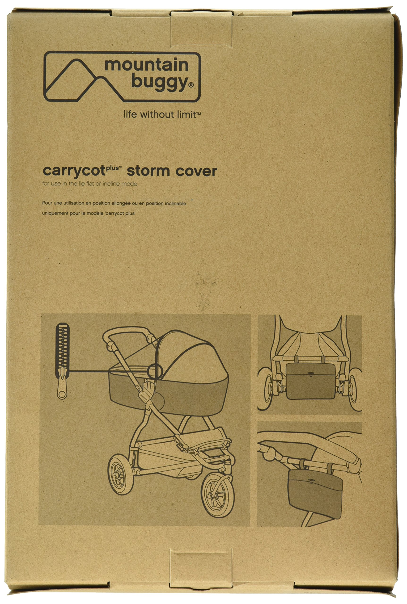 Mountain Buggy Storm Cover for Carrycot Plus for 2015 Urban Jungle, Plus One, and Terrain by Mountain Buggy (Image #2)