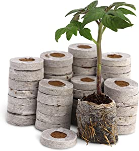 Fiber Soil Direct Plant Seed Starters (36mm) – 48 Pods for use with our Seed Starter Kit or In Any Tray. Expands with Water, Grow Herbs, Flowers and Vegetables. No Messy Soil Mix, Easy and Successful.