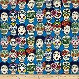 Folklorico Gotas de Amor Royal Fabric By The Yard