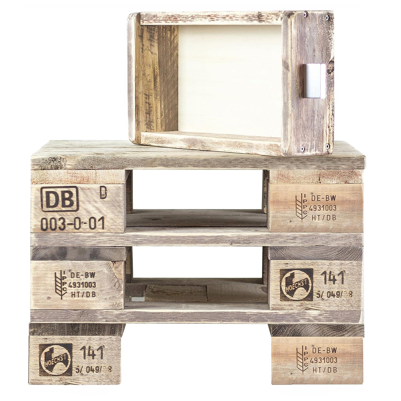 Palettenmöbel  Beistelltisch, Beistelltisch, Beistelltisch, Nachttisch Heaven aus zertifiziertem Palettenholz, jedes Teil ist einzigartig und Wird in Deutschland in Handarbeit gefertigt 977bae