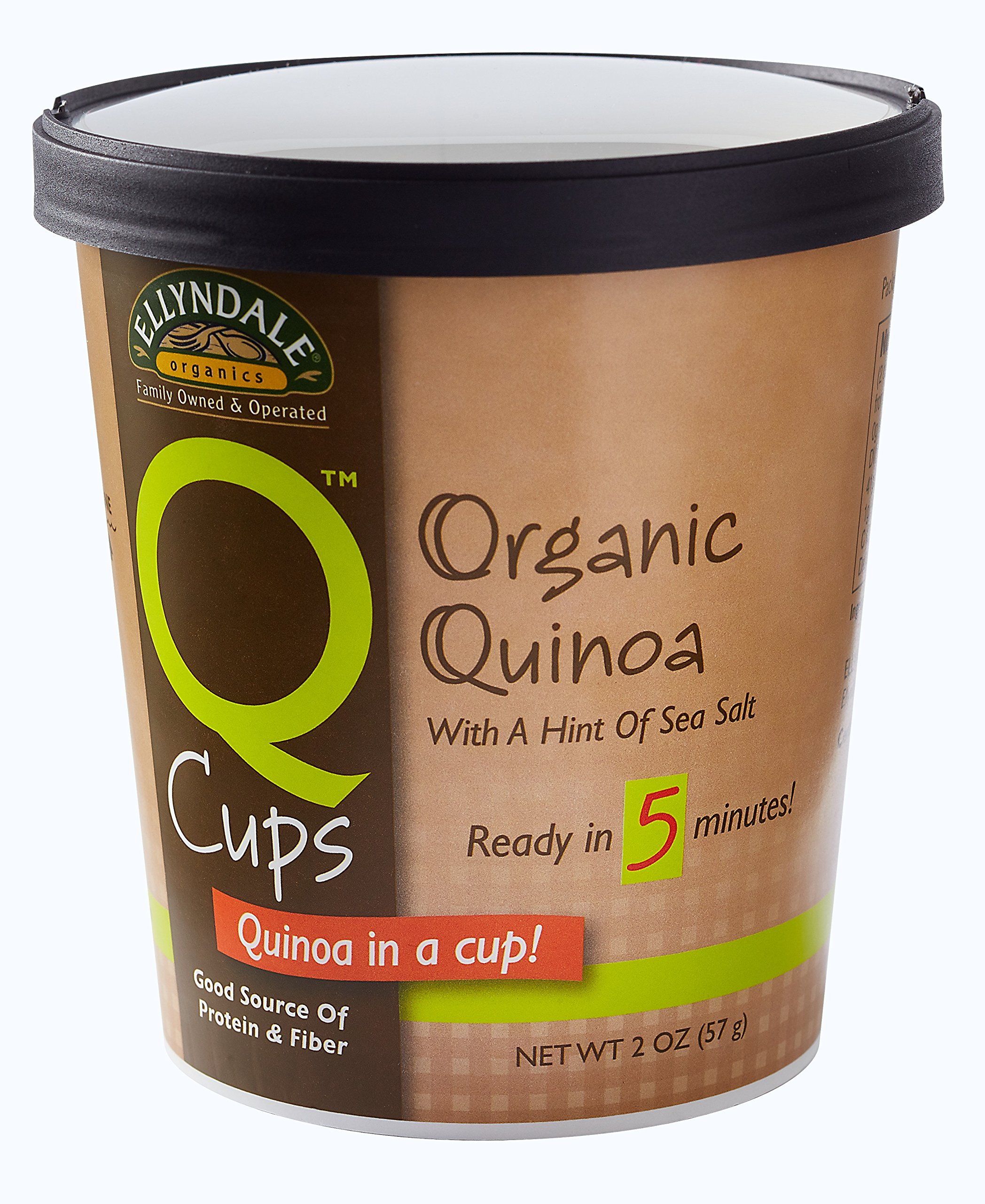 NOW Foods Ellyndale Q Cups Organic Quinoa, Sea Salt, 2-Ounce (Pack of 12)