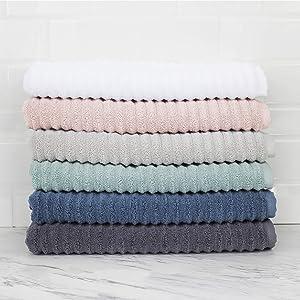 Melange Home Zero Twist Cotton Turkish Towel Collection (Bath Towel Sheet) Ivory Set of 2
