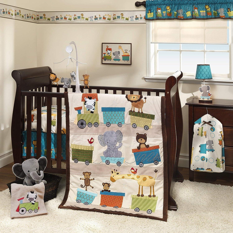 Bedtime Originals Choo Choo Safari Animal Train 7-Piece Baby Crib Bedding Set