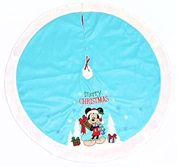 Disney Mickey Mouse Christmas Tree Skirt Baby Blue