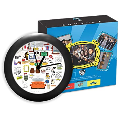 MC SID RAZZ Friends Tv Series Doodle Table Clocks for Decor