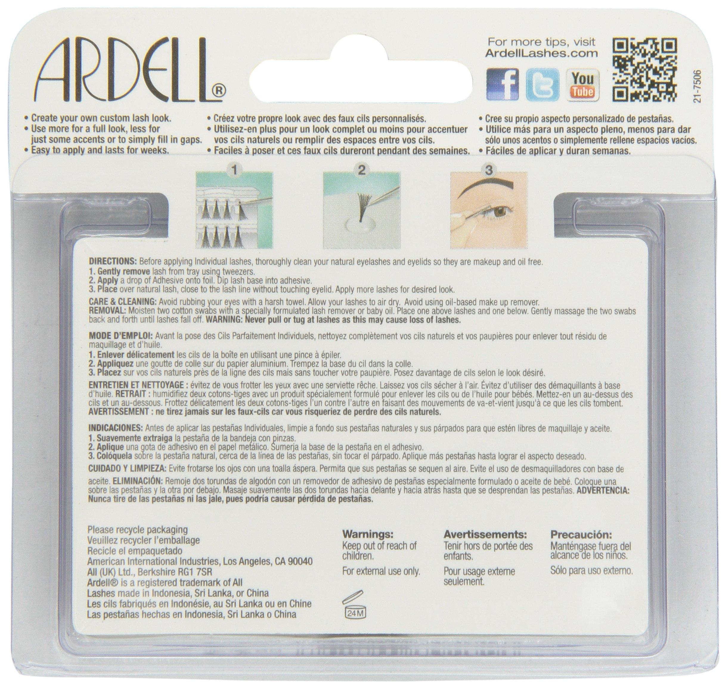 Ardell Duralash Naturals Individual Lashes - Short, 56-Count (Pack of 4)