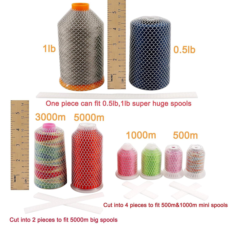 piquer et Serger New brothread 18M filets de bobine de fil pour bobines de fil de diff/érentes tailles pour broderie Coup/é /à nimporte quelle longueur couture
