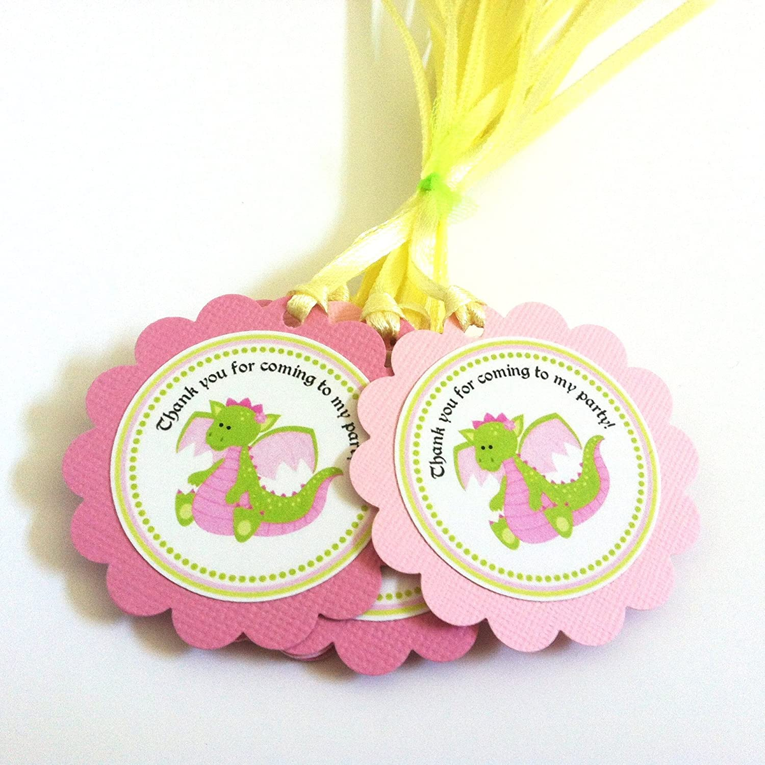 Amazon Pink Dragon Favor Tags