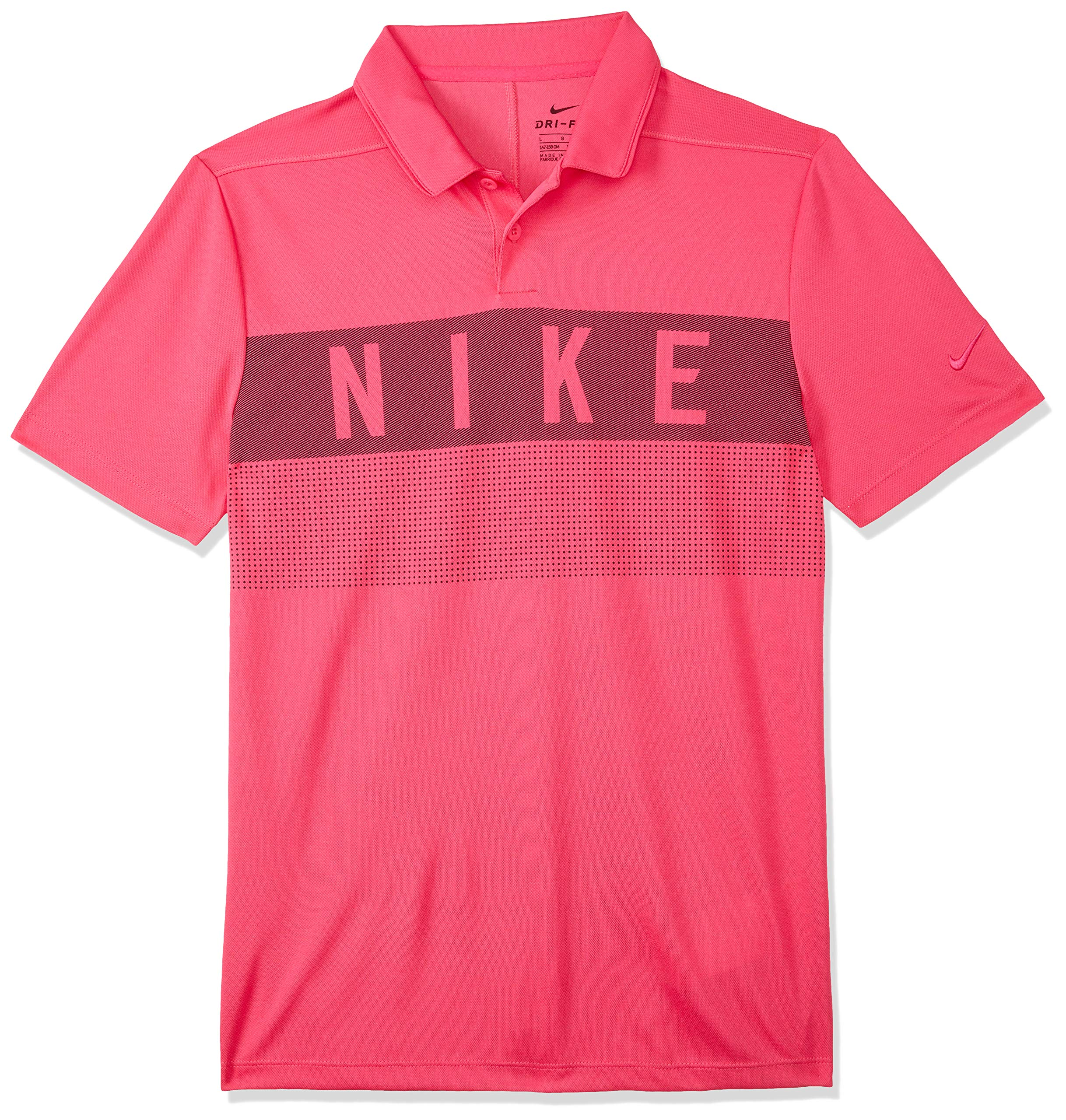 Nike Boy's Dri-Fit Golf Polo (Rush Pink/Rush Pink, Medium)