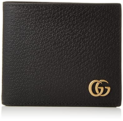 big sale 5f975 22fe4 Amazon | [グッチ] メンズ GG MARMONT 二つ折り財布 並行輸入品 ...