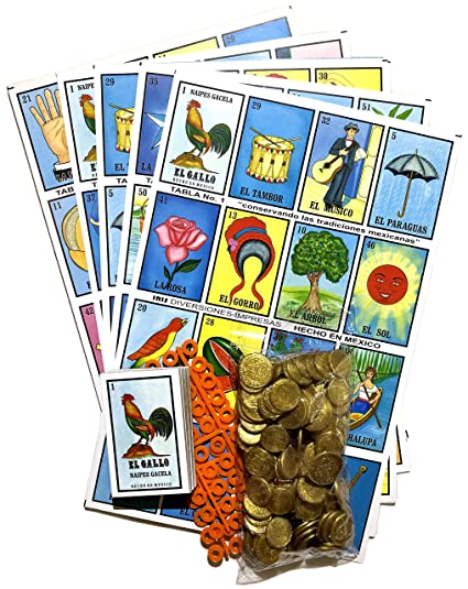 graphic regarding Printable Loteria Mexicana identified as Loteria Mexicana Relatives Mexican Bingo Recreation 20 Jumbo Forums with Enjoying Playing cards, 80 Chips and 100 Plastic Cash Bag Deal