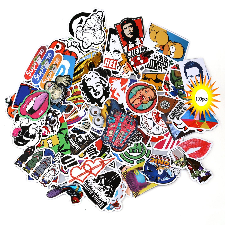 Love Sticker Pack 100-Pcs, Secret Garden Sticker Decals Vinyls for Laptop, Kids, Cars, Motorcycle, Bicycle, Skateboard Luggage, Bumper Stickers Hippie Decals bomb Waterproof(Not Random) Bumper Stickers Hippie Decals bomb Waterproof( Not Random&#xFF0