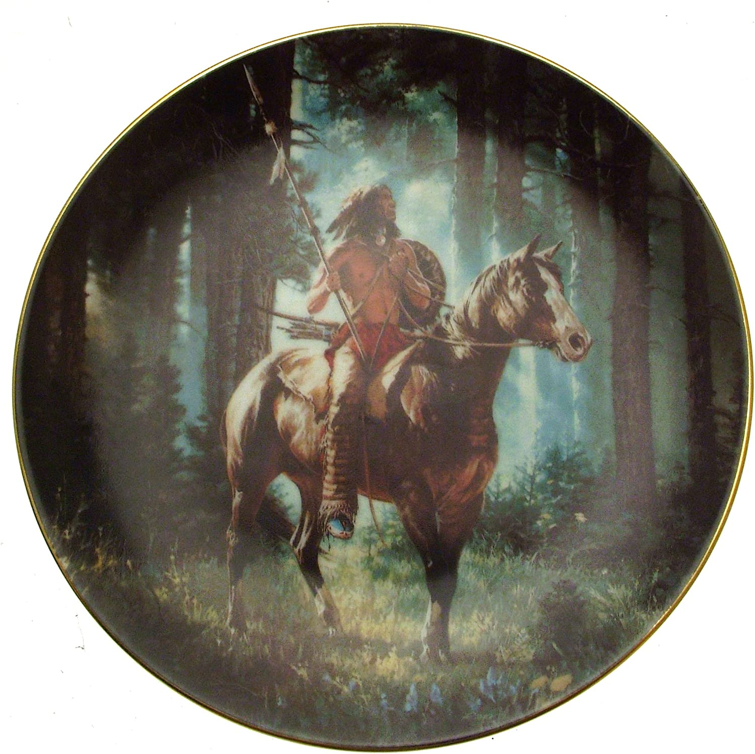 HAMILTON COLLECTION AMERICAN INDIAN MYSTIC WARRIERS DELIVERANCE PLATE