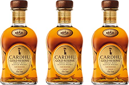 Cardhu 715226 Gold Reserve, 3 Unidades, Single Malt, Whisky, Scotch, Alcohol, Alokoholgetränk, Botella, 40%, 700 ml