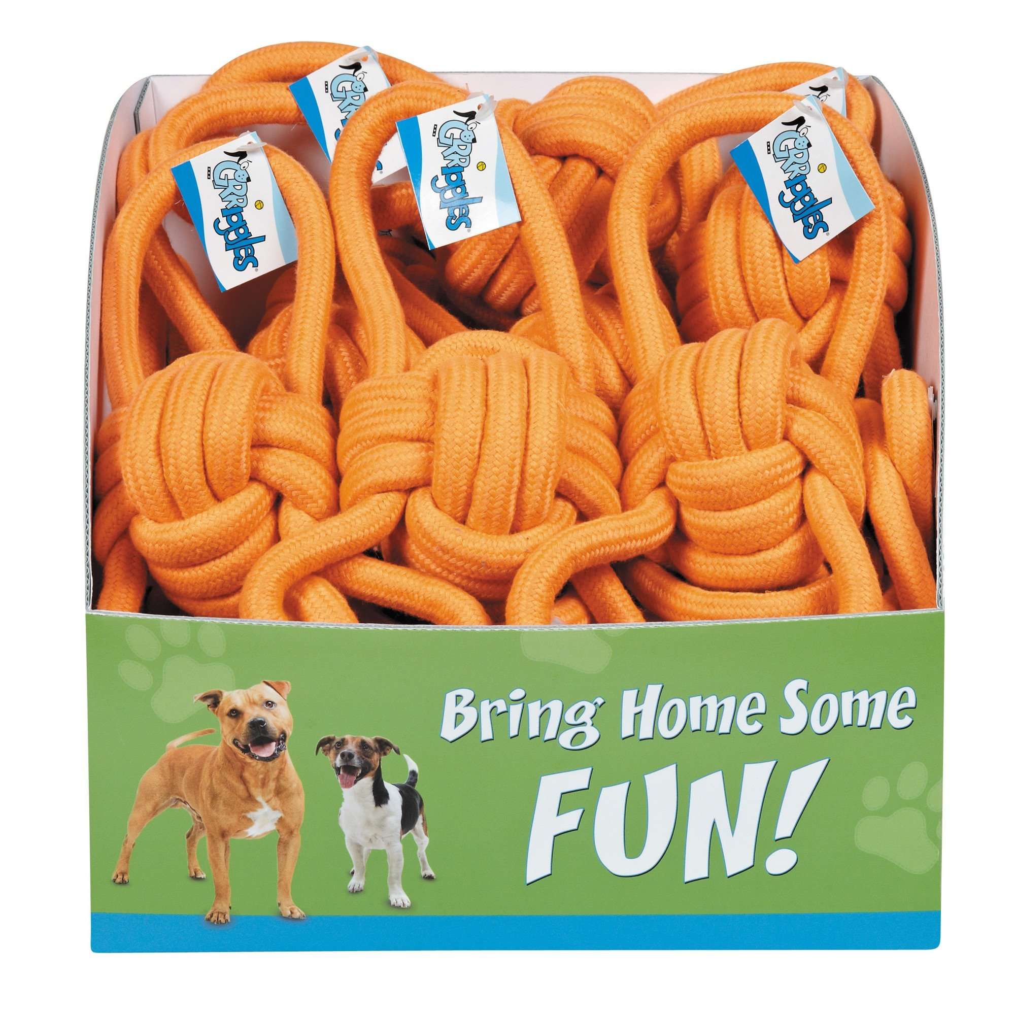 Grriggles PDQ Ruff Rope Loops Toys (18 Pack)