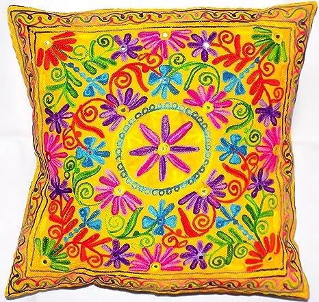 Flores Hojas de color amarillo Star Mandala Multi Color ...