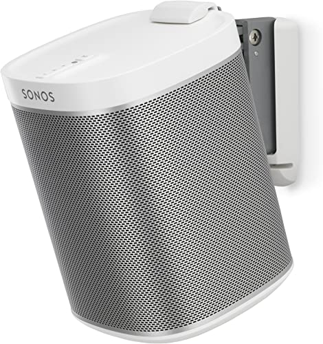 Flexson Wall Mount for Sonos Play 1 with Mounting Hardware – Each White