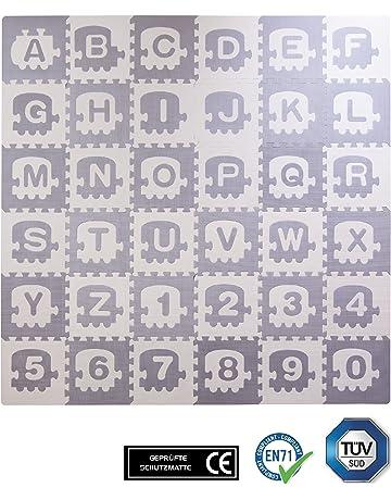 Esterilla puzle para niños con estampado de colores de BodenMax, 30 x 30 x 1