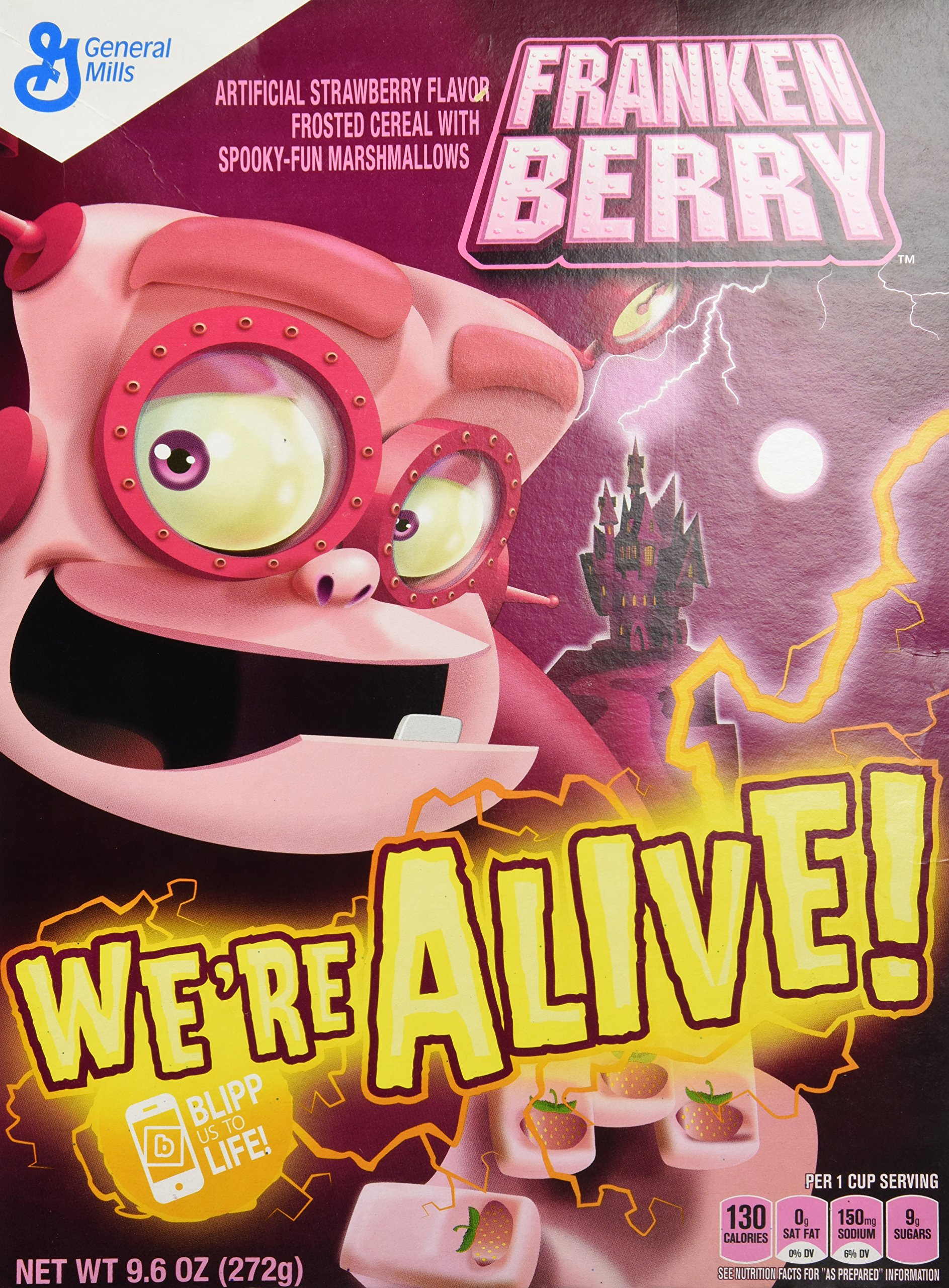 Franken Berry Monster Cereal 9.6 oz Box