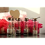 Mcclub Valentine Gifts,Best Filling Pearls Designs Little Message Bottle 4Cm Tall ,5 Pc Set