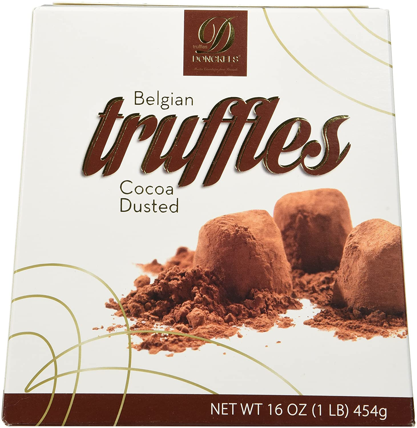 Amazon.com : Donckels Cocoa Dusted Belgian Chocolate Truffles - 1 ...
