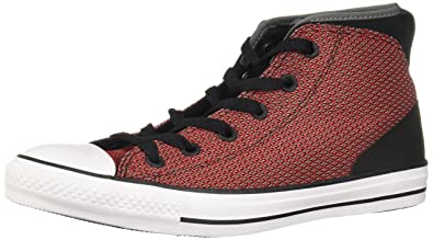 Womens Chuck Taylor All Star Syde Street Mid Black Red Mesh Trainers 37.5 EU Converse HIsZ4O