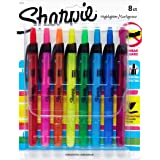Sharpie Accent Retractable Highlighters, Chisel Tip, Assorted Colors, 8-Count