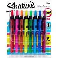 Sharpie Accent–Rotulador fluorescente retráctil, Colores Variados, 8-Count