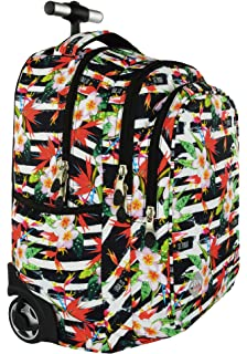 0c51a5d5bf St.Right TROPICAL STRIPES Super Zaino Trolley Scuola per Ragazza Bambina
