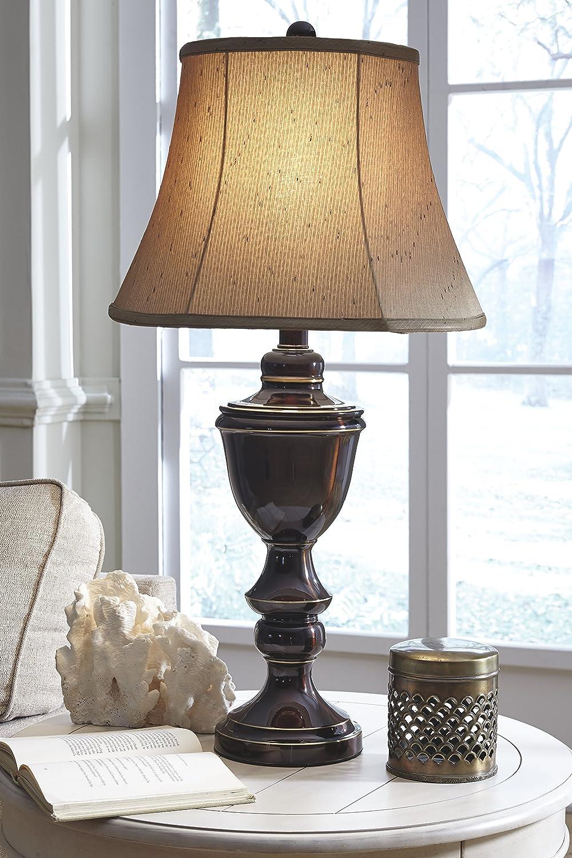 Amazon.com: Ashley l203784 Glyn lámpara de mesa en metal ...