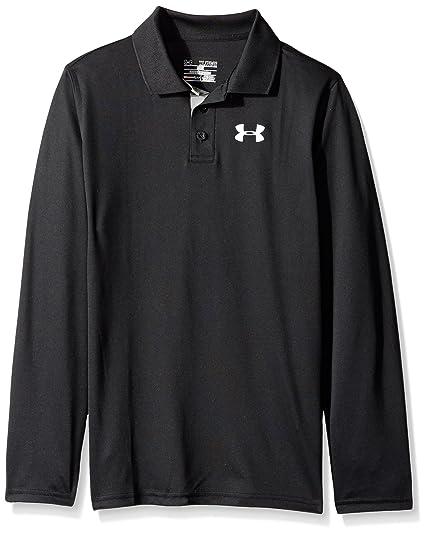 786c759b Amazon.com : Under Armour Boys' Match Play Long Sleeve Polo, Black ...