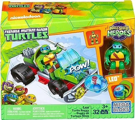 Mega Construx Teenage Mutant Ninja Turtles Half-Shell Heroes Leo Turtle Buggy