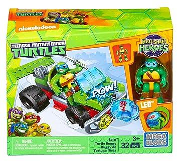 Mega Bloks - Tortugas Ninja Mutantes Adolescentes, Leo con Coche (DMW43)