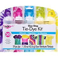 Tulip 31675 One Step Tie Dye Kit 5 Color Ultimate, 59 Pieces, 1.50oz